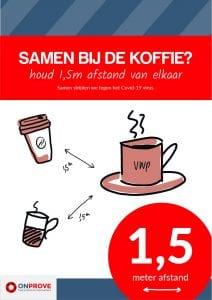 Koffie drinken met anderhalve meter afstand