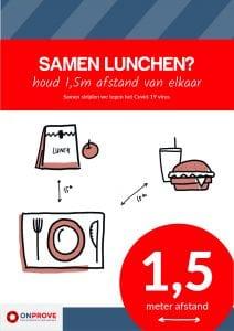 Samen lunchen met anderhalve meter afstand